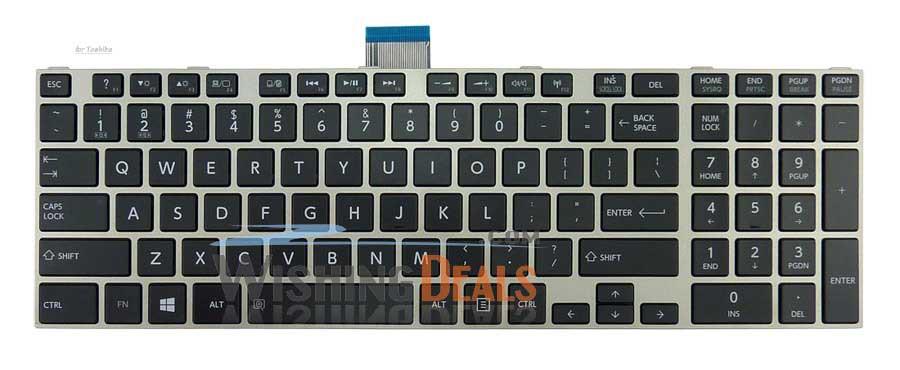 NEW US black Keyboard with Silver Frame for Toshiba Qosmio X870 X875 fast shipping free shipping(China (Mainland))