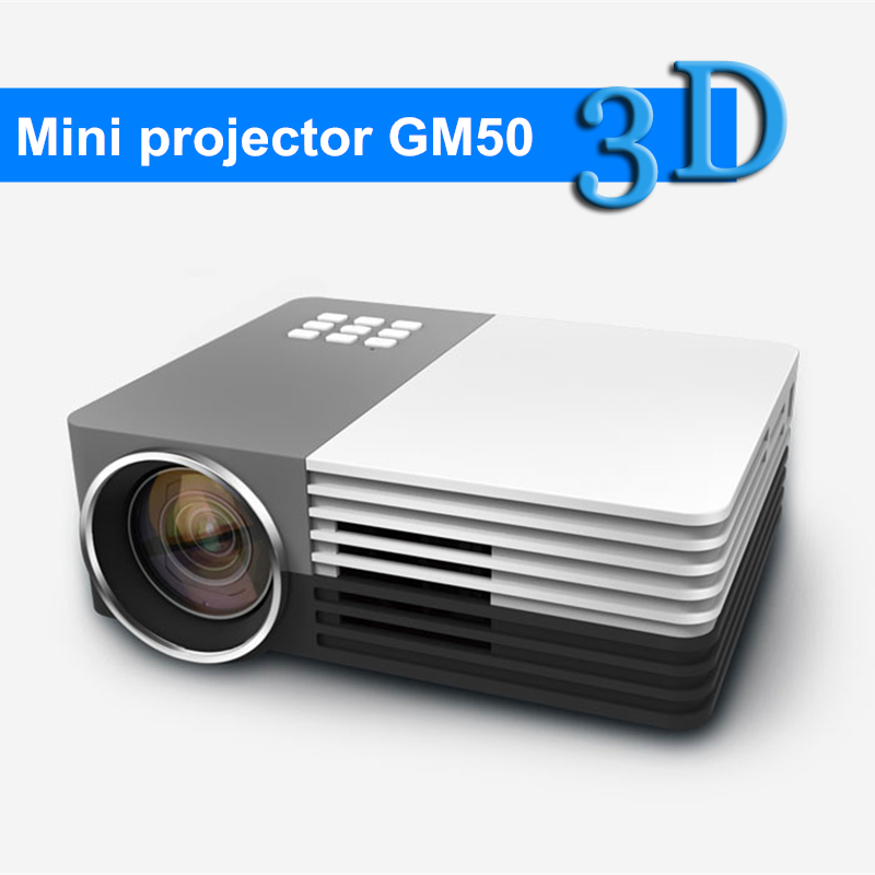 New Portable Digital LED HD Mini Projector GM50 with HDMI Home theater cinema projector proyector