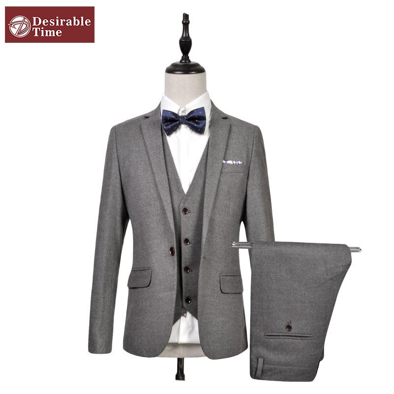 Men Burgundy Tuxedo Suit Size M-6XL 2016 Wedding Suits For Men Costume Homme Mariage Mens Prom Suits (Jacket+Vest+Pants) DT075(China (Mainland))