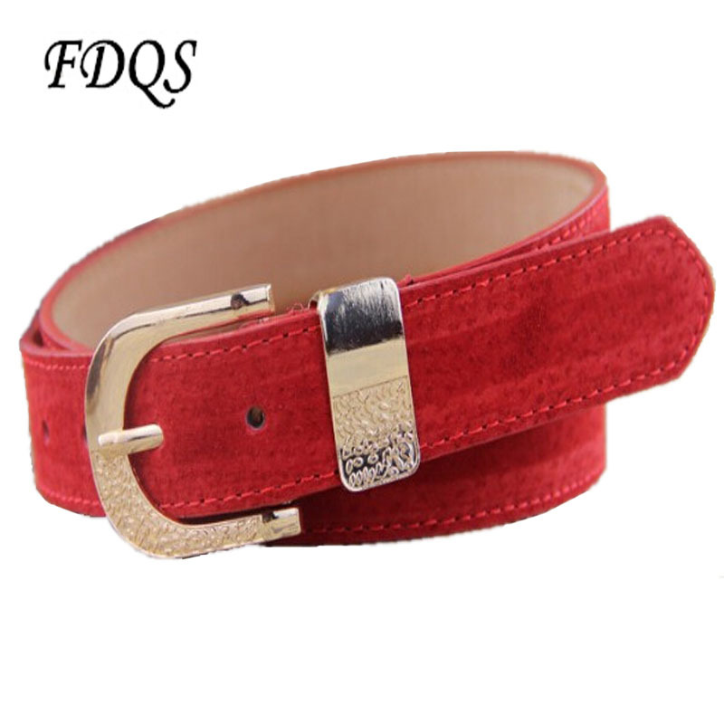 New 2015 pigskin belts Korean brief fashion ceintures pour hommes de luxe belts adjustable frosted solid