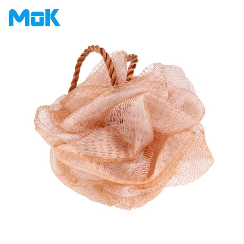 Gold Ball Plastic Exfoliante Bath Sponge Body Shower Brush Back Scrubber Esponja De Banho 1 Piece Free Shipping(China (Mainland))