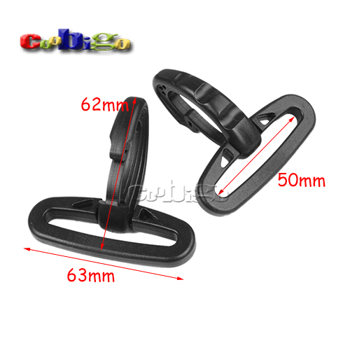 "100pcs Pack 2"" Heavy Duty Plastic Snap Hooks for Weave Paracord Lanyard Backpack Straps #FLC433-50B(China (Mainland))"
