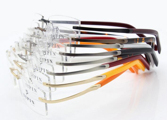 Brand Glasses Frame B-Titanium Masculino Sport Eyeglasses Rimless Frame Eye Glasses Myopia Female Prescription Oculos de sol(China (Mainland))