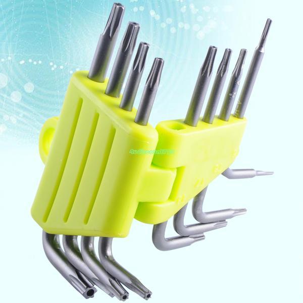 8pcs set torx crv key star wrench tool screwdriver t5 t6 t7 t8 t9 t10 t15 t20 EN3460(China (Mainland))