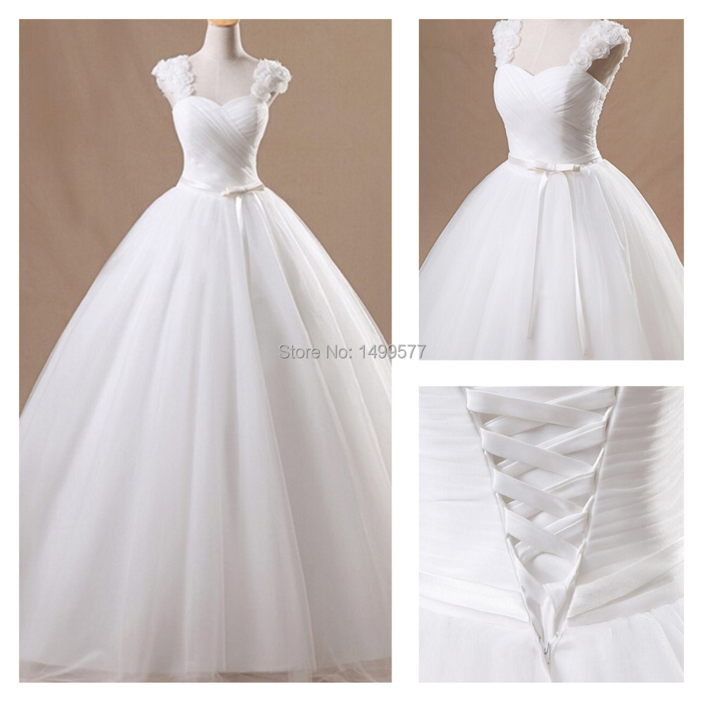 2015 New Arrival Elegant Wedding Dresses Ball Gown Organza Glamorous Sweetheart Formal Dress White/Ivory Bridal Gown(China (Mainland))
