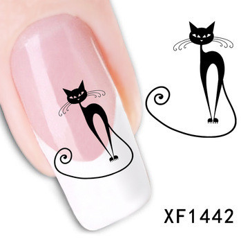 Hot Sale New Arrival Colorful Beauty cat pattern 3D DIY nail decal, Water Transfer Stickers ,Nail Art(China (Mainland))