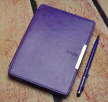 Смарт кожаный чехол чехол для amazon kindle paperwhite 1/2/3 защитный фолио смарт-чехол + экран протектор + стилус как подарок