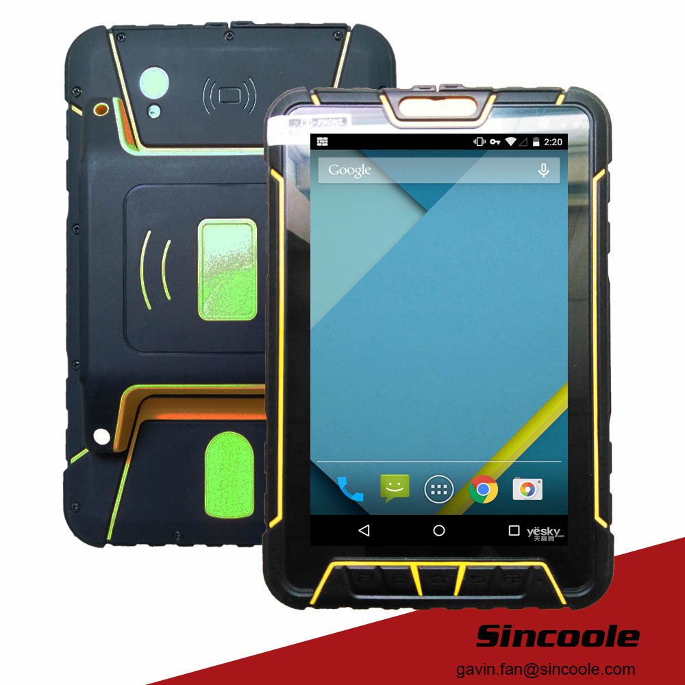 4G LTE android 4.4.2 UHF 7 inch rugged tablet, strong tablet, industrial panel pc(China (Mainland))