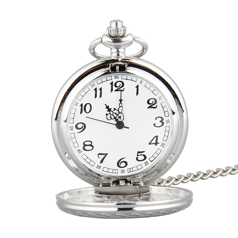 Cindiry Design Vintage Eagle Wing Silver Quartz Pocket Watch Necklace Pendant Chain Relogio Gifts P2