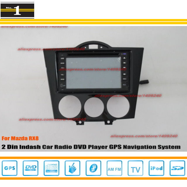 For Mazda RX8 RX 8 2003~2012 - Radio CD DVD Player & GPS Navigation System / Double Din Car Audio Installation Set(China (Mainland))