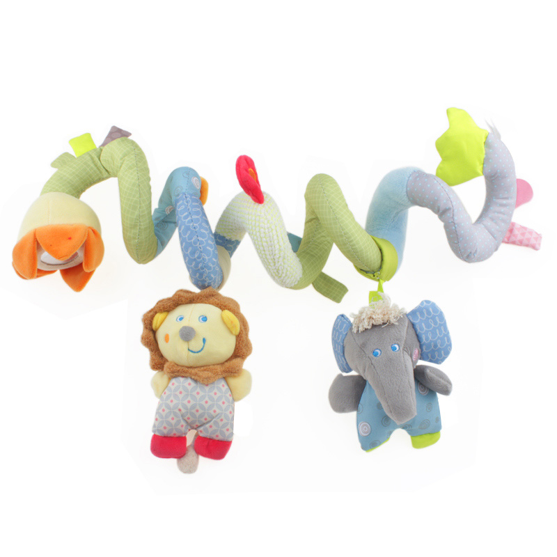 Activity Spiral Baby Toys Soft Toys For Newborns 0-12 Months Baby Girl Baby Boy Mobile Rattles Hanging Travel Toys For Tots(China (Mainland))