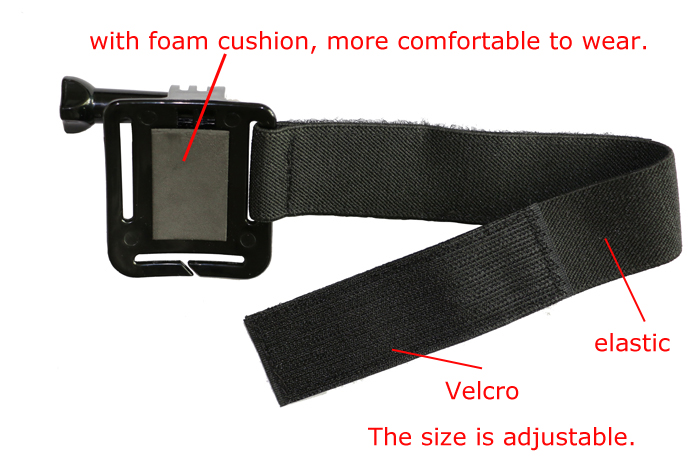 Adjustable Wrist Strap Elastic Wrist Band Arm Strap Mount for Gopro Hero 3 3+ 4 Xiaomi Yi xiaomi SJ4000 Go pro Accessories