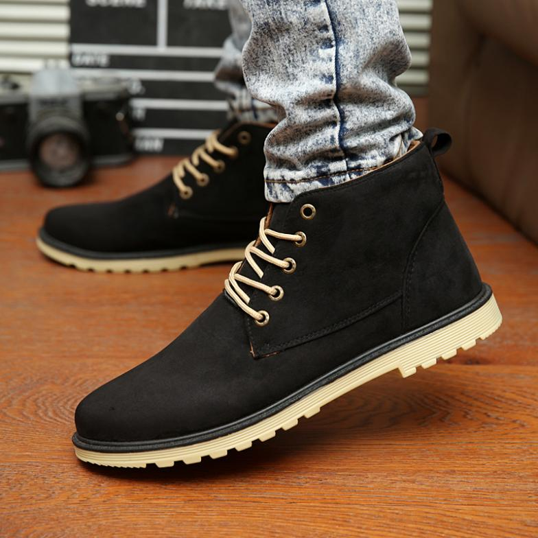 2016 New Men Shoes Fashion Leather Shoe Casual High Top Shoes ...