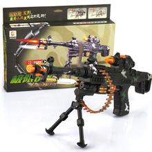Электрические игрушечные пистолеты для мальчиков игрушки с легкими звуковые вибрации пластик пистолет-пулемет игрушки для детей