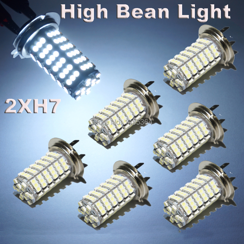 2pcs Super Bright Xenon White H7 Led 7000K 1210LED 120SMD Car Light Bulbs High Beam Lamp Light Fog Driving DRL Light For Hyundai(China (Mainland))