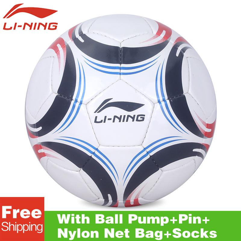 Original lining AFQK054 High Quality Standard Soccer Ball Training Balls soccer Official Size 5 PVC Soccer Ball free shipping(China (Mainland))