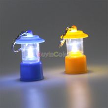 Mini Portable LED Camping Tent Lantern Light Emergency Keychain Night Lamp DTZE #68816(China (Mainland))