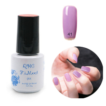 2016 Hot Sale QHC Charming Women Sweet Girl Color Long Lasting Manicure Soak-off lacquer Nail Glue Nail Polish finger ink(China (Mainland))