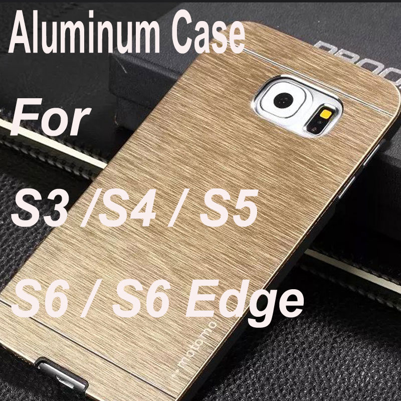 HOT Aluminum Cover Hard Case Samsung Galaxy S3 S4 S5 S6 Edge Luxury Gold Silver Brushed Metal Multi Phone Capa Fundas Cases - ToolTech service centre store