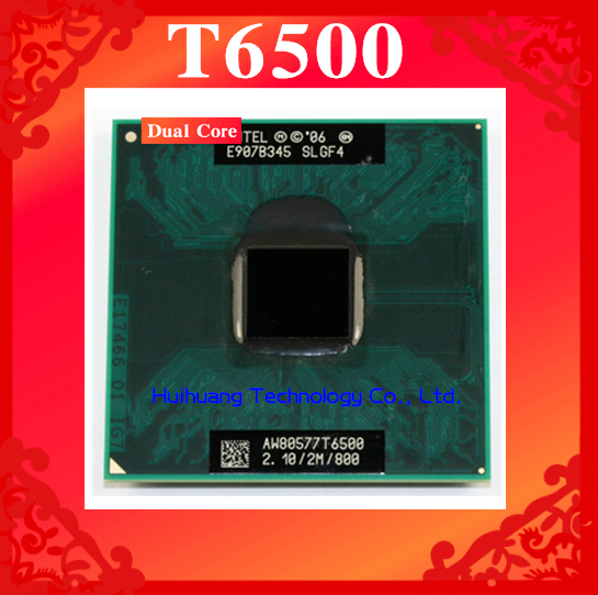 Lifetime warranty Core 2 Duo T6500 2.1GHz 2M 800 Dual Notebook processors Laptop CPU Socket PGA 478 pin Computer Original(China (Mainland))