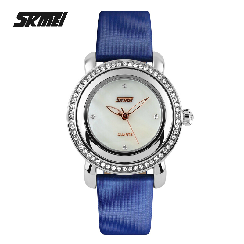Watch Women Fashion Casual Quartz Watch Ladies Relogio Feminino Leather Strap Rhinestone Womenes Watches Luxury Brand Clock 2016<br><br>Aliexpress
