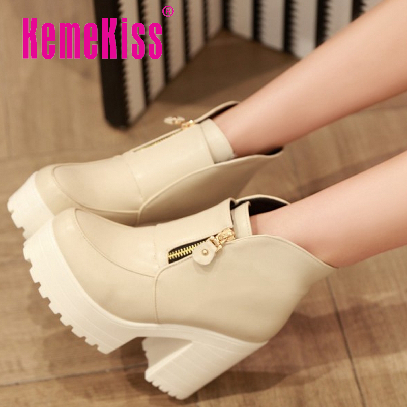 CooLcept Free shipping ankle half short boots women snow fashion winter warm footwear high heel shoes boot P15536 EUR size 34-39<br><br>Aliexpress