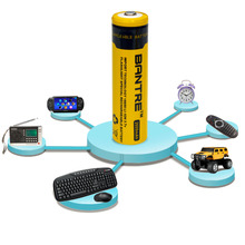Buy Original BANTRE 18650 Lithium Battery 2600mah 3.7V Rechargeable Battery Yellow LED Torch Flashlight for $2.65 in AliExpress store