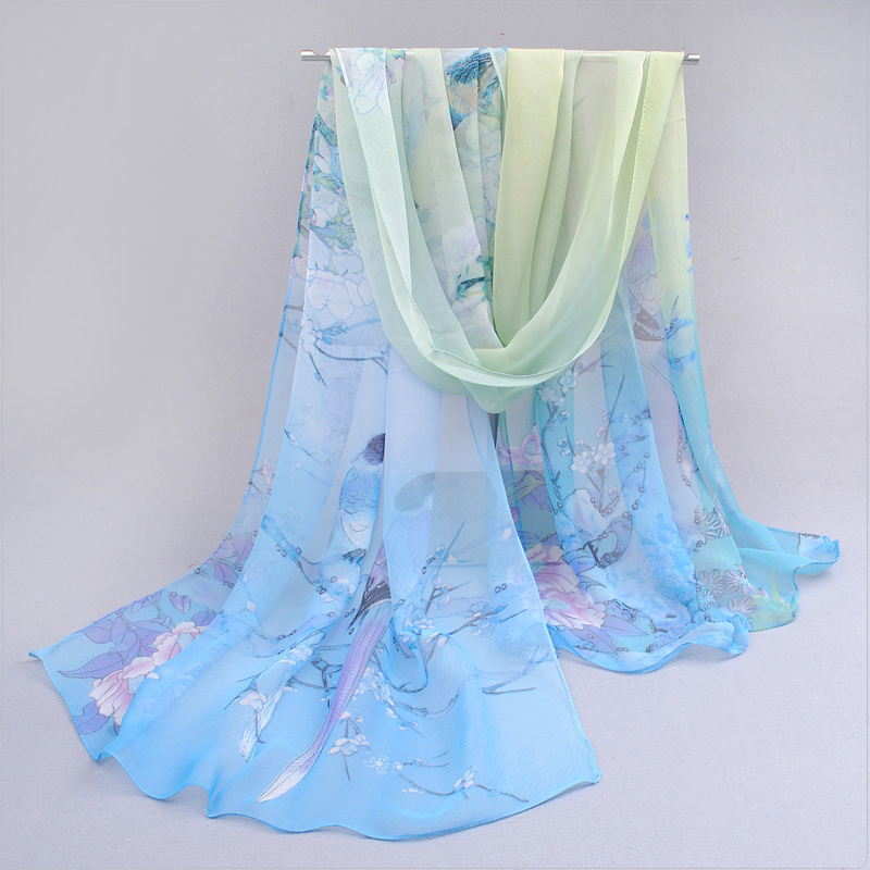 2015 scarf thin chiffon silk scarf spring and autumn accessories women's summer sunscreen cape XQM