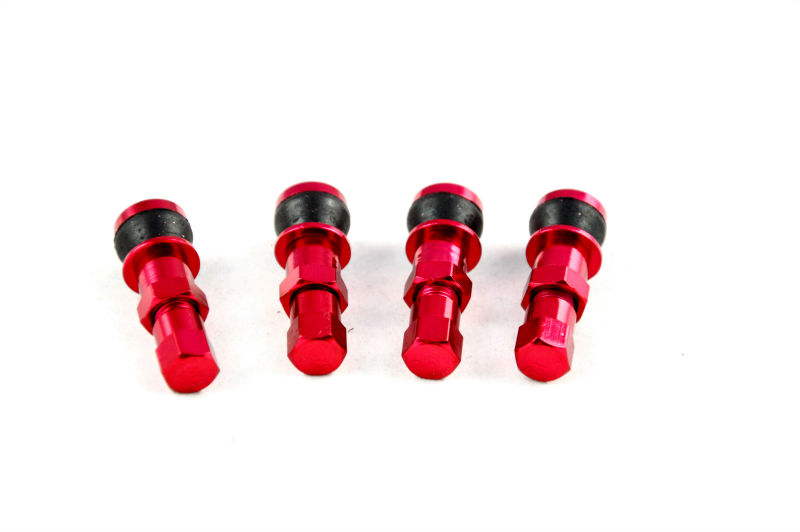 Red Aluminum Car Tubeless Wheel Tire Valve Stem Four Bolt-in With Dust Caps Wheels, Rims & Accessories(China (Mainland))