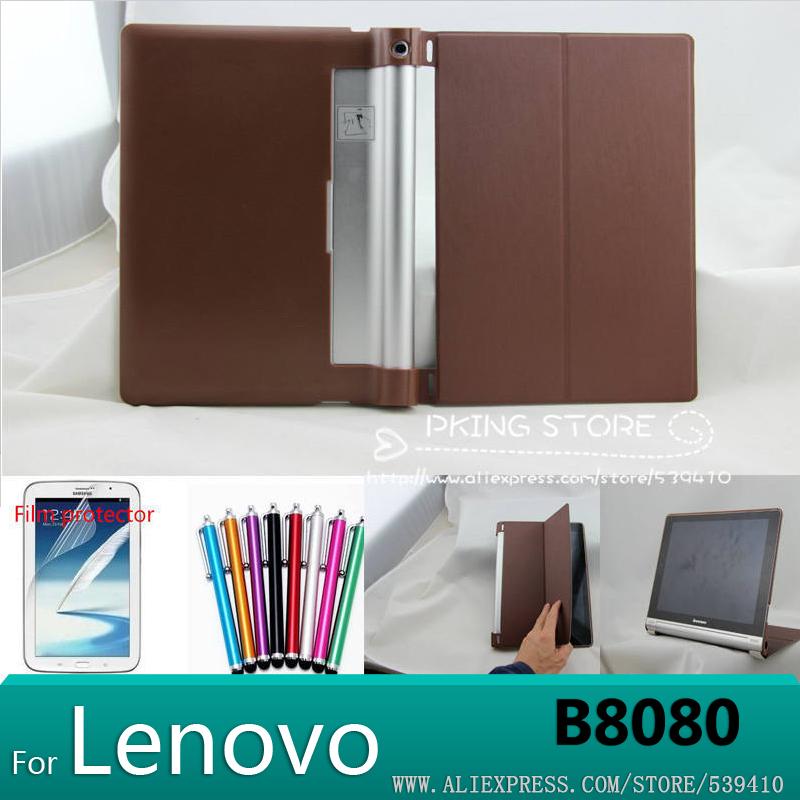 Top quality Smart Case Cover for Lenovo yoga 10 HD + B8080 B8000 tablet case Lenovo Yoga Tablet 10 B8000 b8080 +screen protector(China (Mainland))
