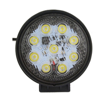 4 Inch 27W 12V 24V LED Work Light Spot/Flood Round LED Offroad Light Lamp Worklight for Off road Motorcycle Car Truck Hot New(China (Mainland))