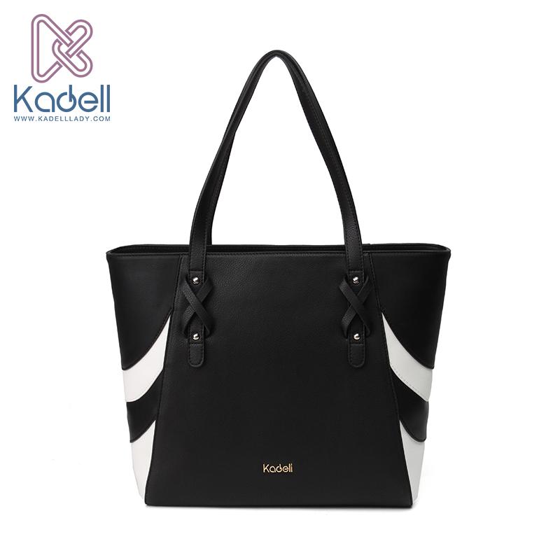 2017 Kadell Luxury Bags handbags Women Famous Brands Leathers Shoulder Bags Designer Handbags High Quality Stripe Beach Tote Bag(China (Mainland))