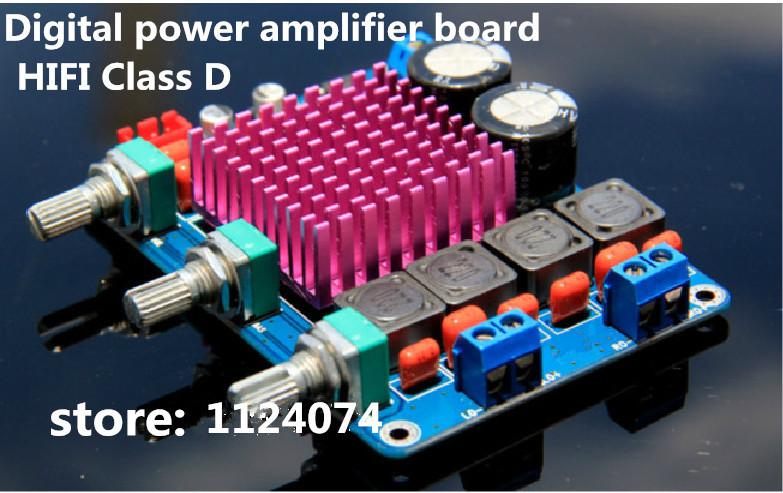 Promote Class d fever digital power amplifier board NE5532 tone plate 2x50W Class D Digital HIFI Audio Power Amplifier Board(China (Mainland))