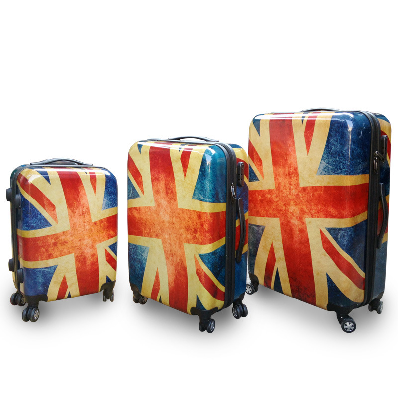 2015 New Fashion Unisex ABS+PC Trolley Travel Luggage Suitcases 20/24/28 Union Jack Travelling Case Vintage Luggages(China (Mainland))