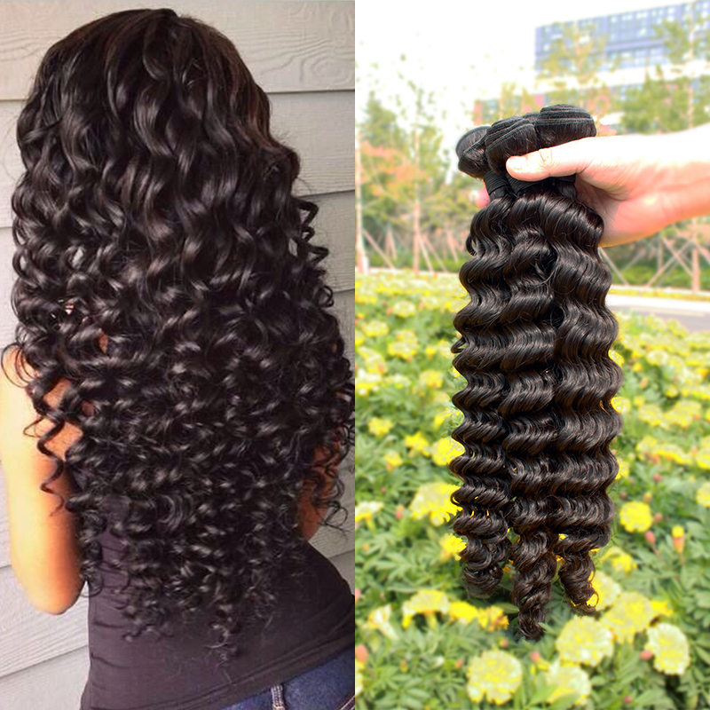 Queen Hair products Indian Virgin Hair Deep Wave Remy Curly hair bundles 4pcs no shedding unprocessed human hair Extension<br><br>Aliexpress