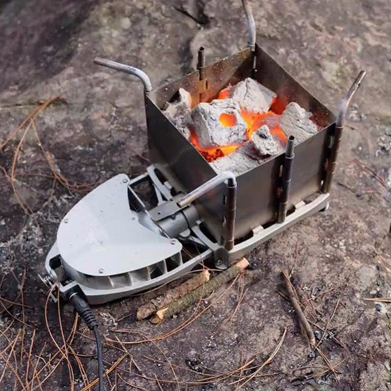 Outdoor camping portable charcoal stove backpack firewood stove picnic cook barbecue wood stove new blast furnace head(China (Mainland))
