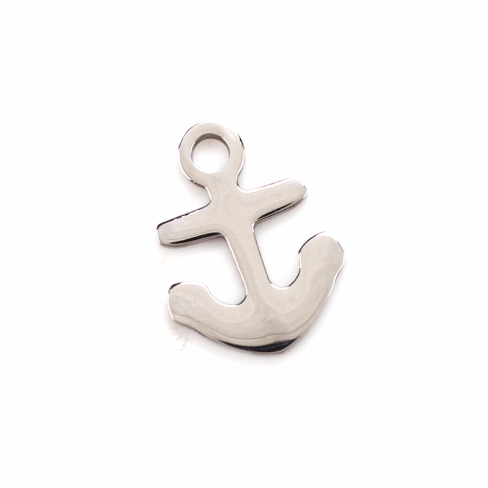 5pcs/lot15*20mm stainless steel Hot Sale Charm Anchor RudderWholesaleJewelryHigh quality Design Pirate hookNew Fashion Pendant(China (Mainland))
