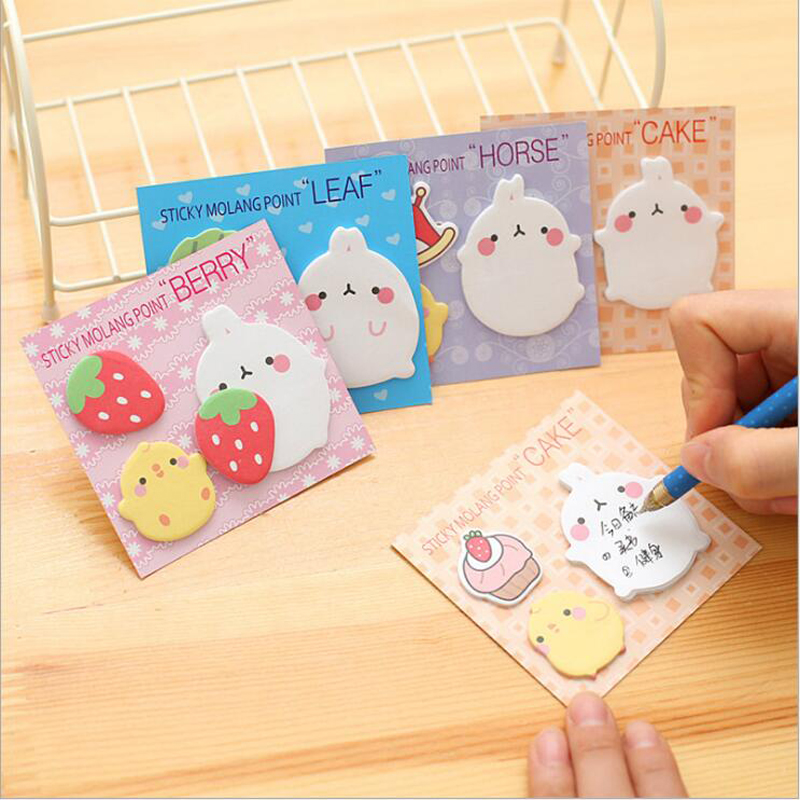 Kawaii 4 Different Memo Pads Sticky Notes Post It Diary Stickers Scrapbooking Planner(China (Mainland))