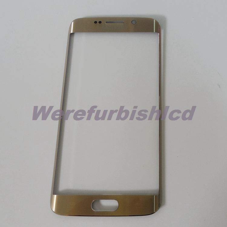Original Gold Front Screen Outer Glass Lens Replacement For Samsung Galaxy S6 Edge G9250 SM-G925