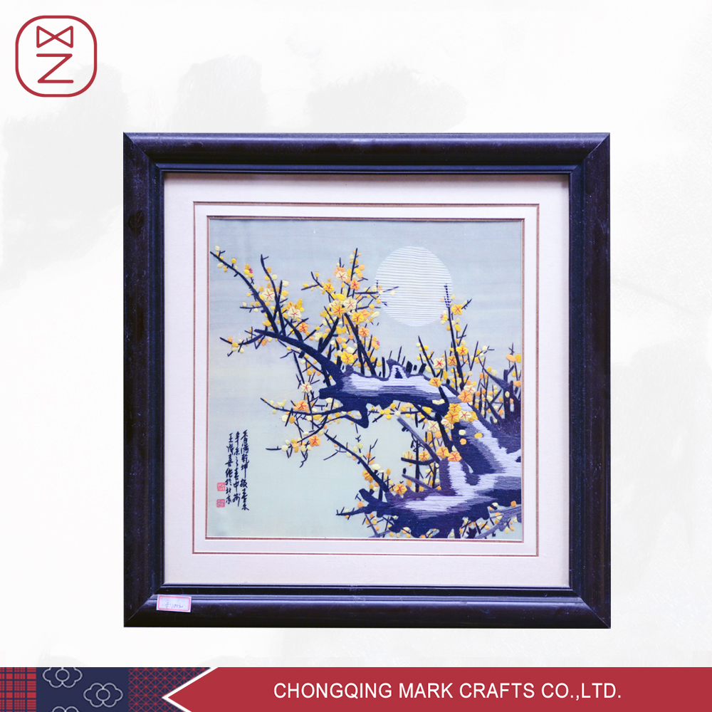 Traditional Home wall Decoration Silk Embroidery Painting China Handmade Art and Craft Shu Embroidery(China (Mainland))