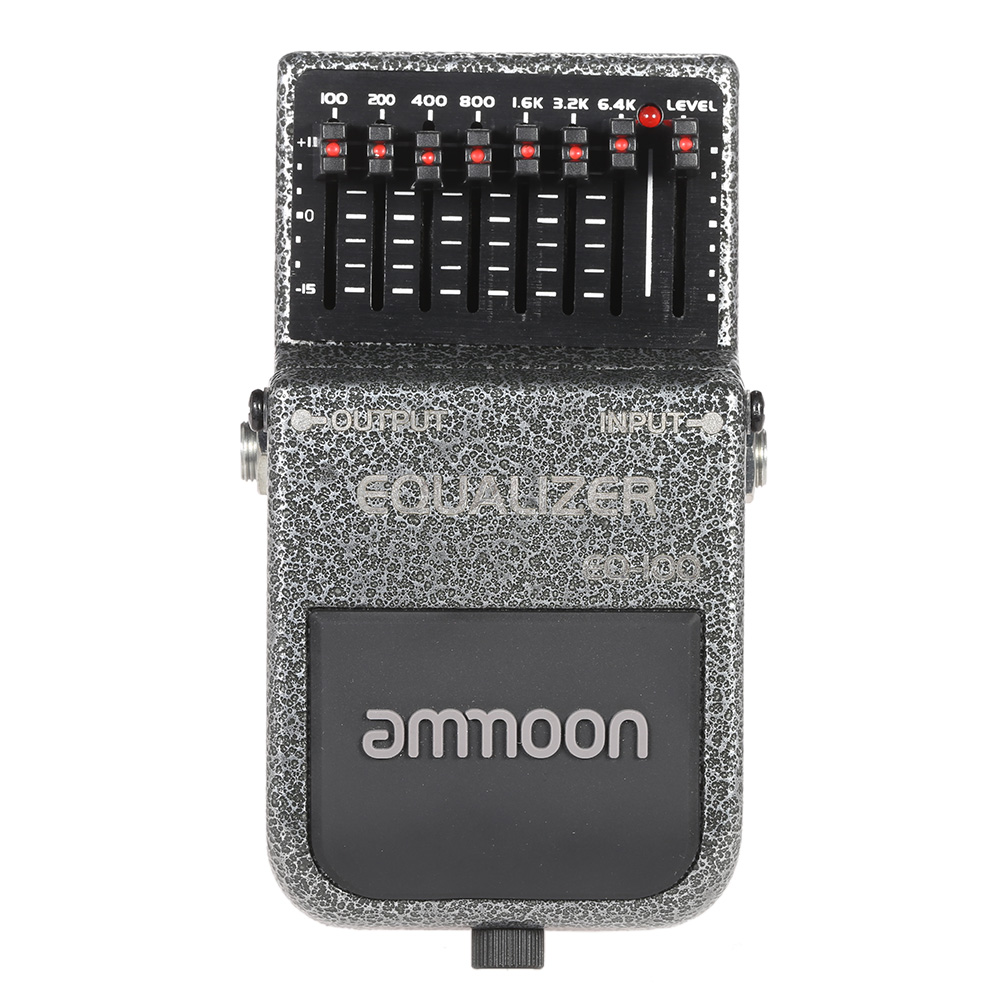 New Arrival! ammoon EQ-100 Equalizer Effects Pedal High Quality Guitar Effect 7-Band EQ Wide Frequency Range Durable Guitar Part(China (Mainland))