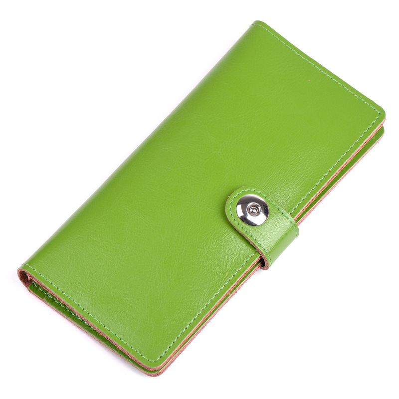 2015 New Arrival Women 100% Cow Genuine Leather Wallet Korea Fashion Candy Colors Casual Thin Purse Wallets Clutch Bag BL-A1(China (Mainland))