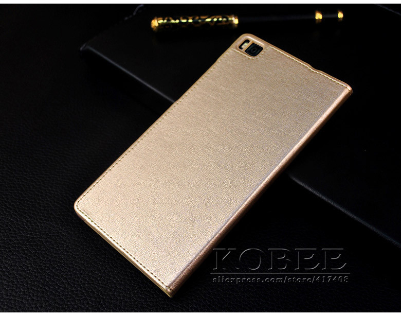 Original huawei P8 Flip Leather Mobile Phone Bag Case Accessories For huawei ascend P8 Cover Luxury Brand Smart Sleep Wake