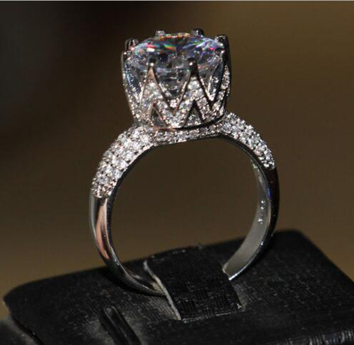 PROMOTION! Factory CHINA high quality micro pave cz bling bling women rings(China (Mainland))