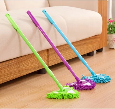 3 Solid Colors Chenille Scalable+ retractable Bendable Flexible Chenille Microfiber Duster for Home Office Car Cleaning BH069(China (Mainland))