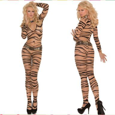 2015 Hot Sale Sexy Fresh Zebra Print Lingerie Women Body Stockings Female sex products bodystocking(China (Mainland))