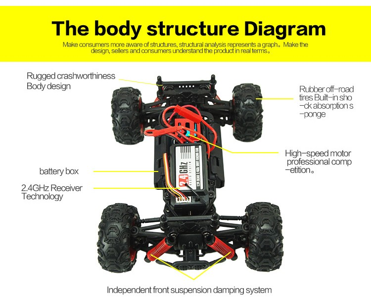 New Arrival SUBO-BG1510A High Speed RC Cars 4CH 7.4V 2.4G RC Cross-Country Motorcycle Model Car