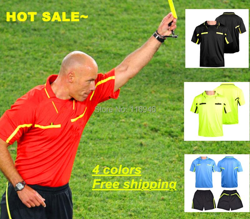 2015 Judge uniform professional soccer referee Uniform Football referee Jersey,L-3XL,free shipping(China (Mainland))