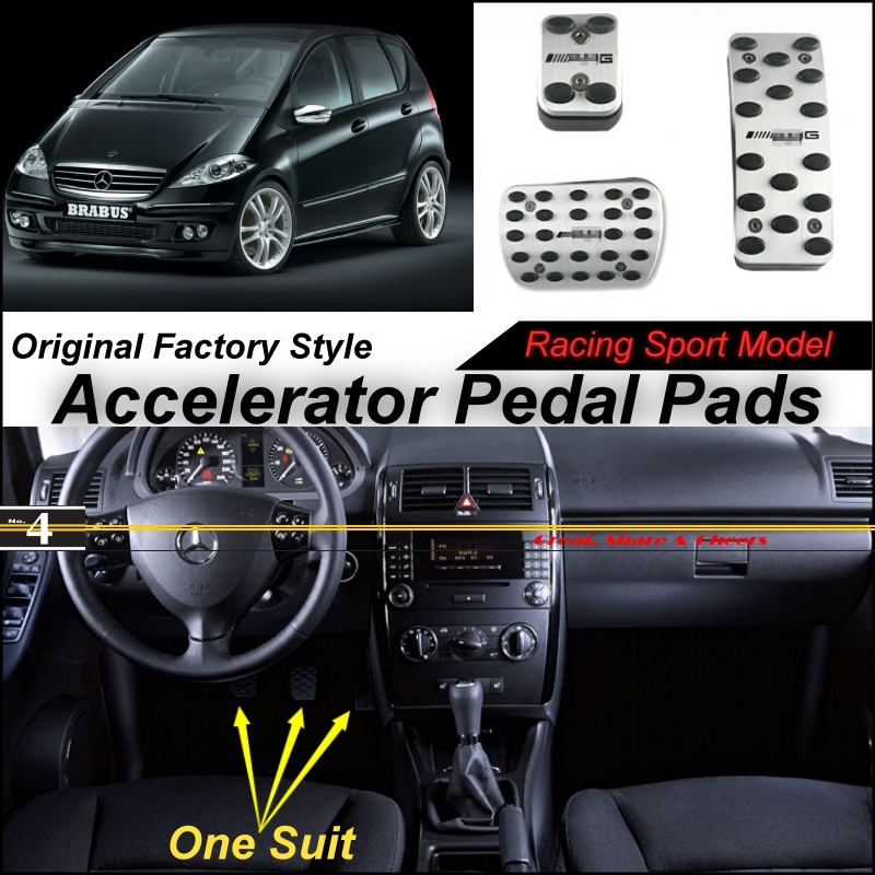 Car Accelerator Pedal Pad / Cover Factory Sport Racing Design Mercedes Benz Class MB W169 AT Foot Throttle - NOVOVISU Store store