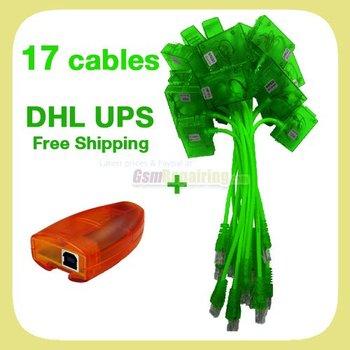 New Orange MX Box  (HTI / mxbox) + 17 SL3 Cables for Nokia Unlock & Flash + Free Shipping by EMS DHL UPS
